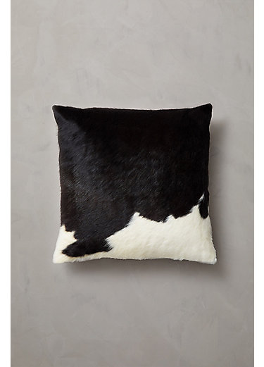 """Overland 19.5"""" x 19.5"""" Argentine Cowhide Pillow"""