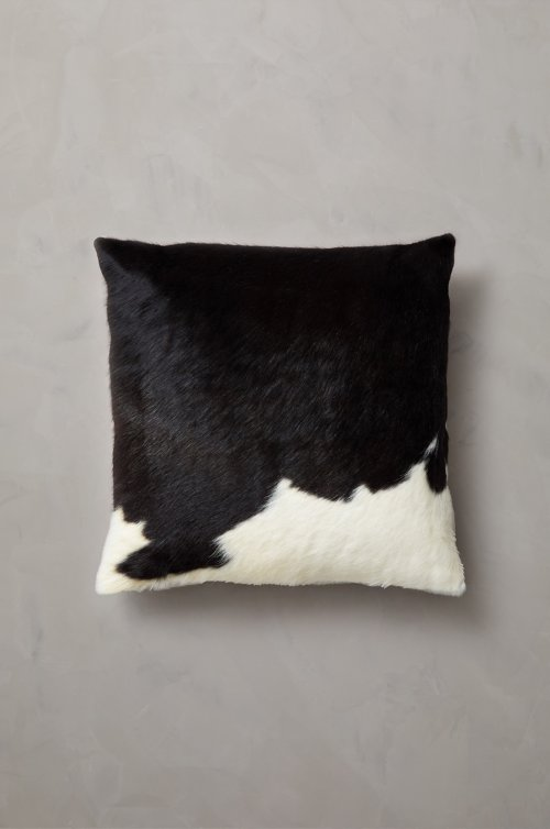 "Overland 19.5"" x 19.5"" Argentine Cowhide Pillow"