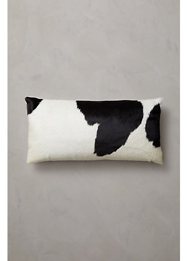 "Overland 23.5"" x 11.5"" Argentine Cowhide Pillow"