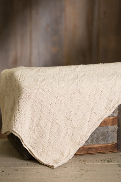 Americana Knitted Cotton Blanket