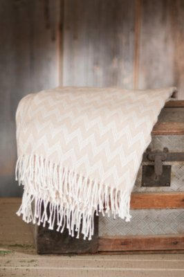 Fringed Peruvian Alpaca Wool Throw