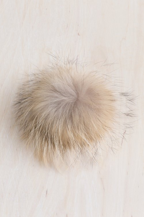 Finn Raccoon Fur Pom Pin