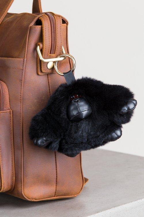 Rex Rabbit Fur Gorilla Keychain