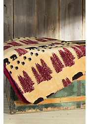 Denali Wheat Bear Fleece Throw