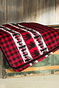Bear Plaid Fleece Throw