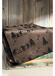 Denali Bear Boogie Fleece Throw