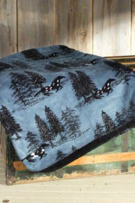 Denali Horse Flight Fleece Throw