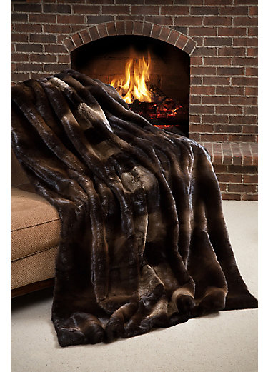 Yukon Nights Canadian Otter Fur Blanket