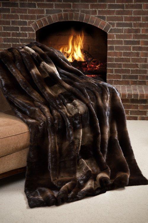 Yukon Nights Canadian Otter Fur Blanket