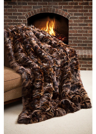 Winter Chalet Finnish Fox Fur Blanket