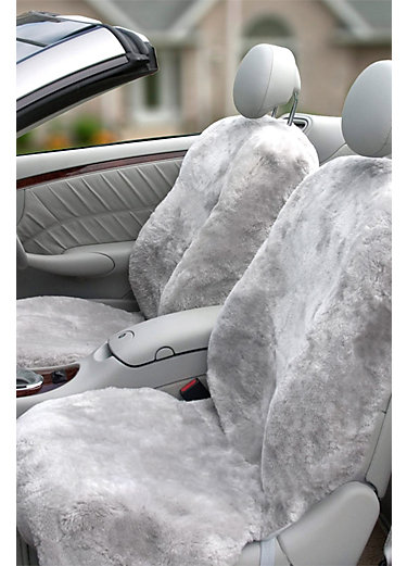 Custom-Fit Sheepskin Car Seat Cover