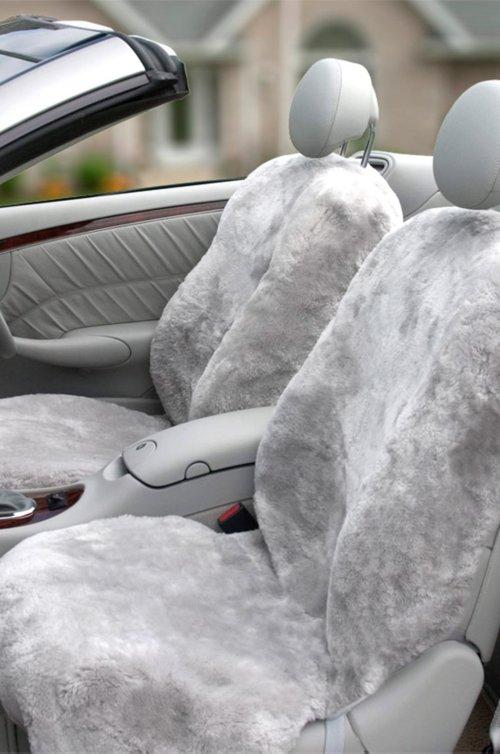 Custom-Fit Sheepskin Car Seat Cover