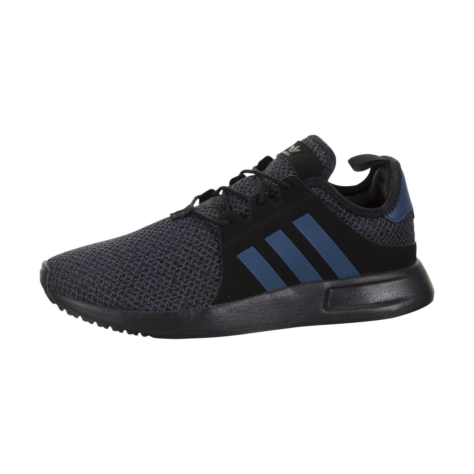 Buy adidas X PLR Two-tone Knit Shoes Kids  Core Black   Blue Night 4 ... d28f95c762c