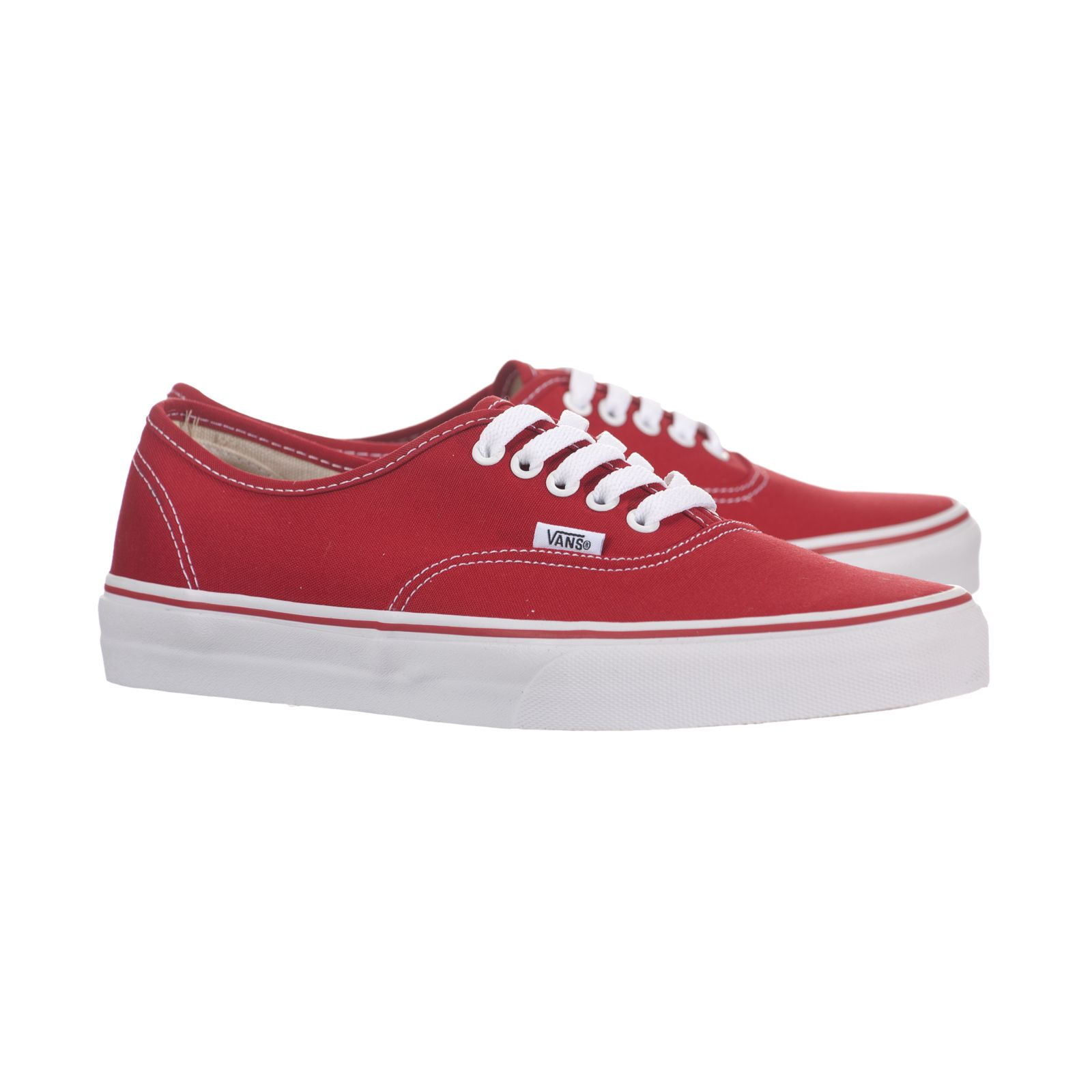 37b31669c8 VANS Authentic Red Canvas 0ee3red Skate Shoes SNEAKERS Mens Womens 8 ...