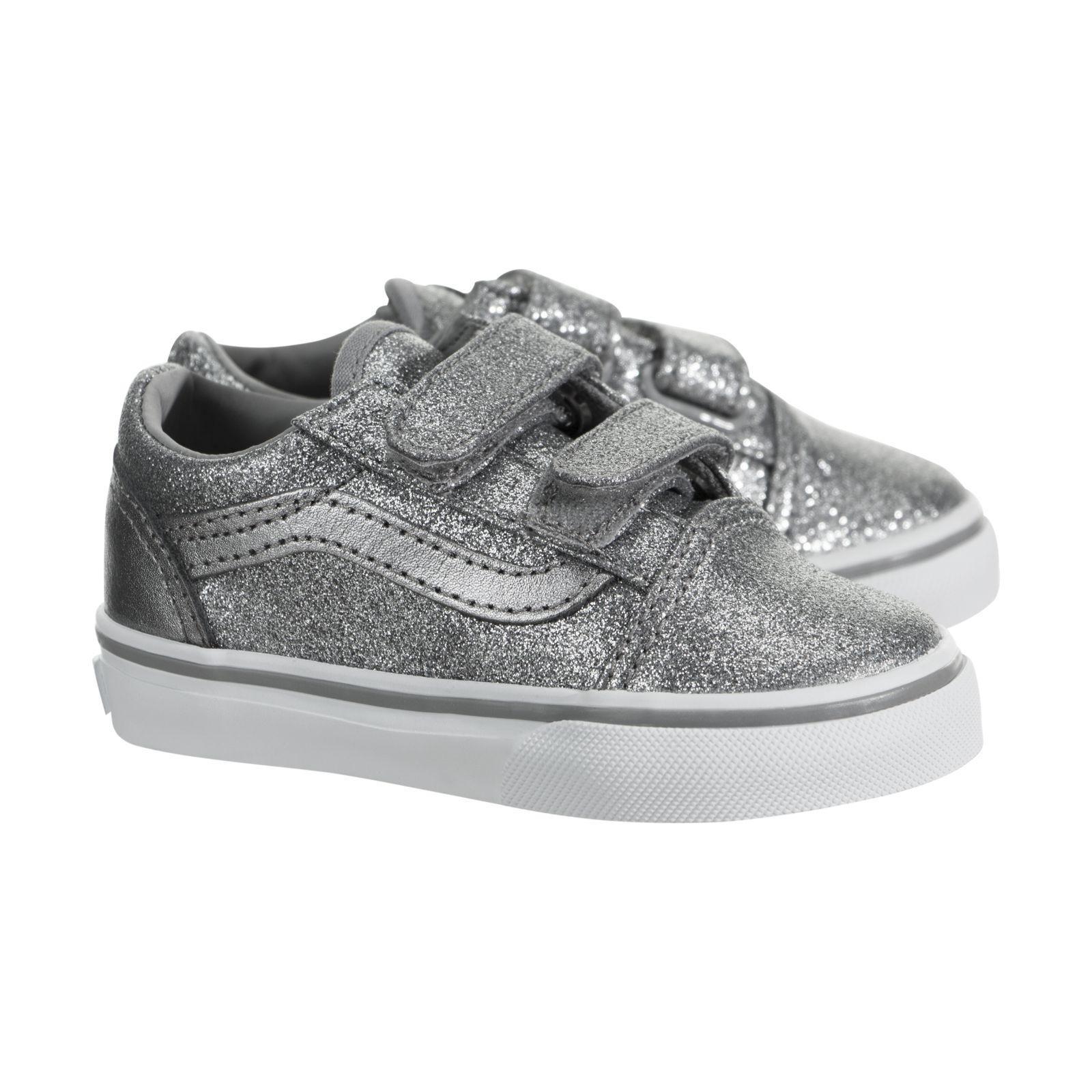 6f61d0c954ae4b VANS Toddlers Old Skool V Glitter Metallic Frost Gray Skate Shoe 10  Infants. About this product. Picture 1 of 5  Picture 2 of 5 ...