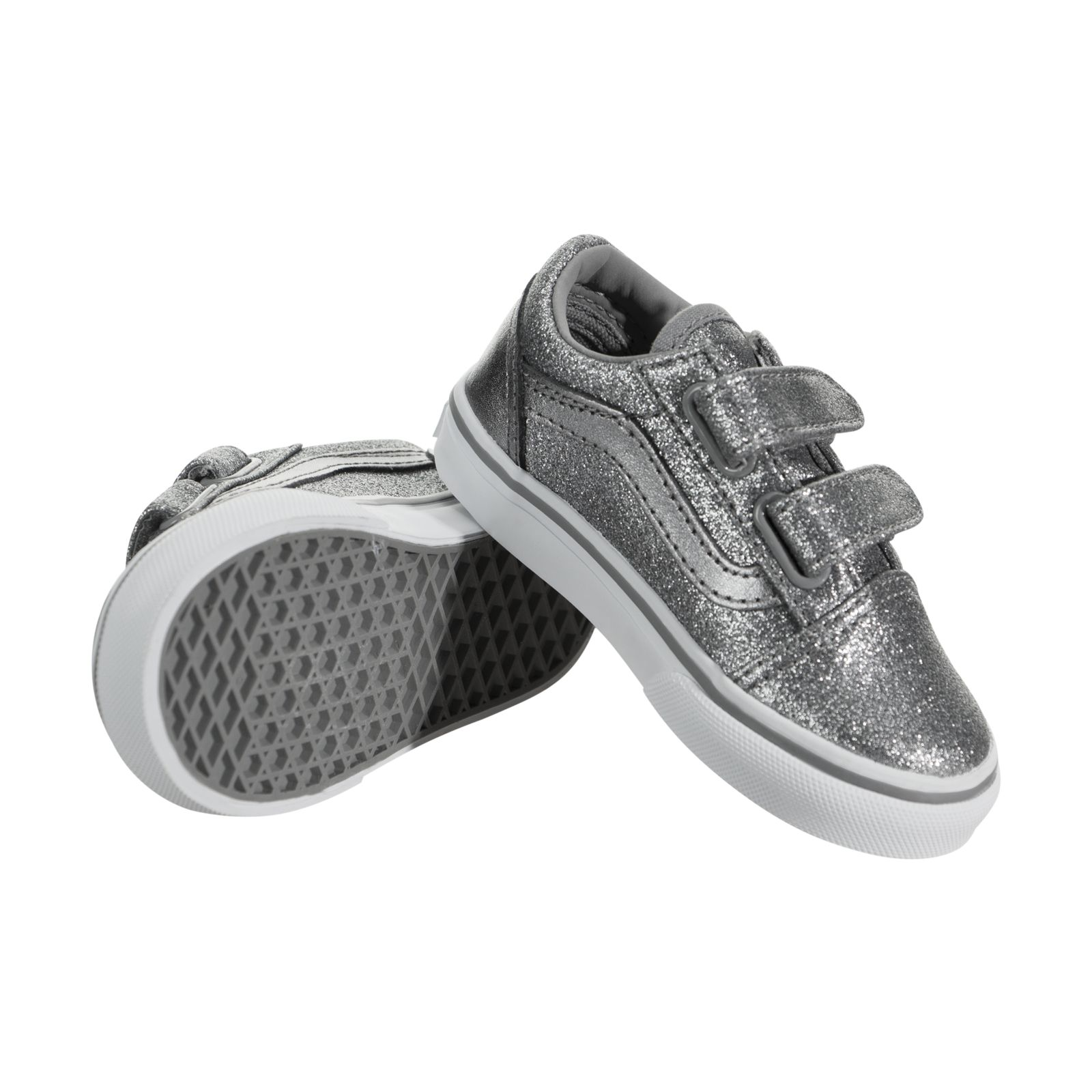 3a3f174faa47ca VANS Toddlers Old Skool V Glitter Metallic Frost Gray Skate Shoe 10  Infants. About this product. Picture 1 of 5  Picture 2 of 5  Picture 3 of 5  ...