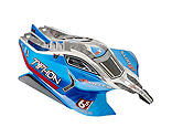 ARRMA - AR406118 Body Blue Painted W/Decals Typhon 6S BLX