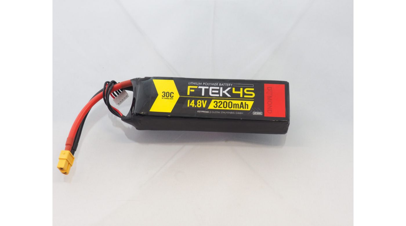 Grafik für F-TEK 4S 3200mAh (14,8V) 30C LiPo Akku (XT60) in Tower Hobbies EU