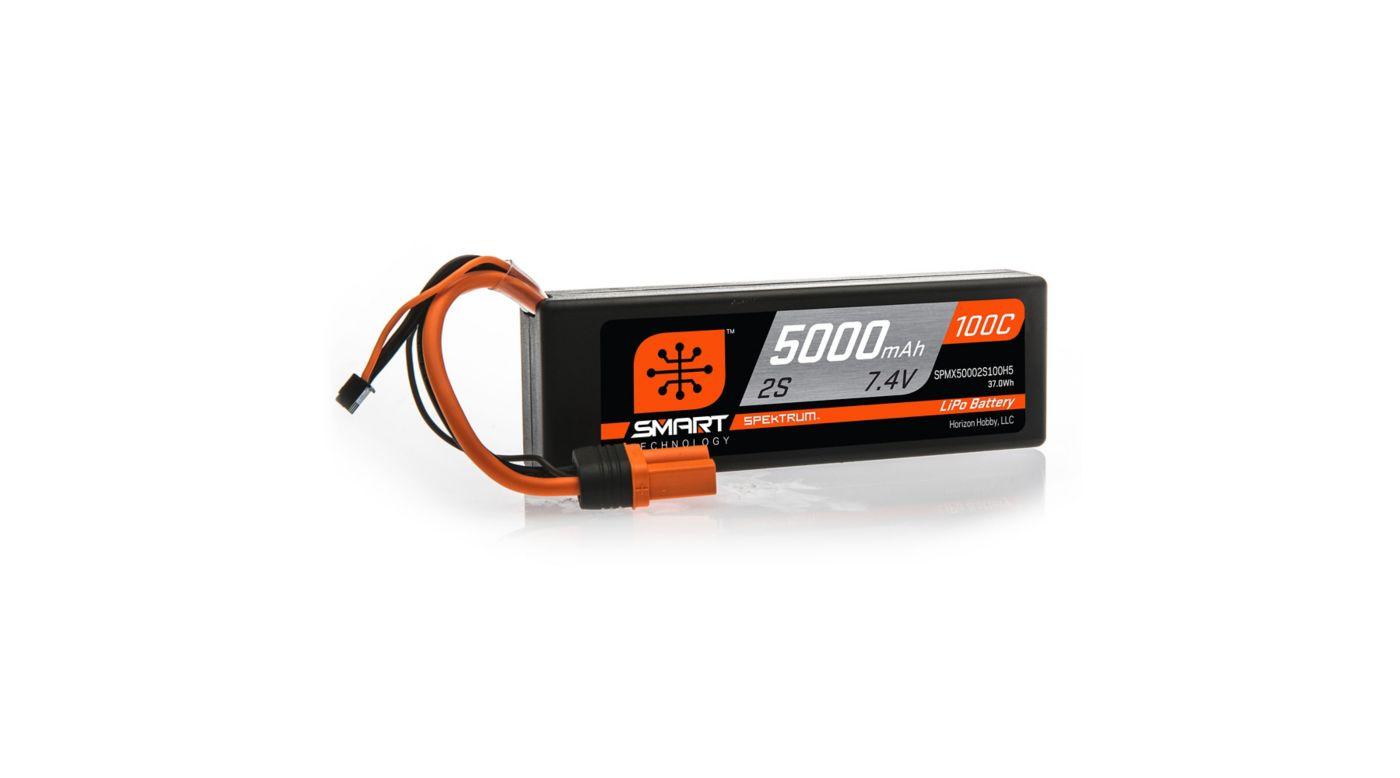 Image for 7.4V 5000mAh 2S 100C Smart LiPo Battery, Hardcase, IC5 from Tower Hobbies EU