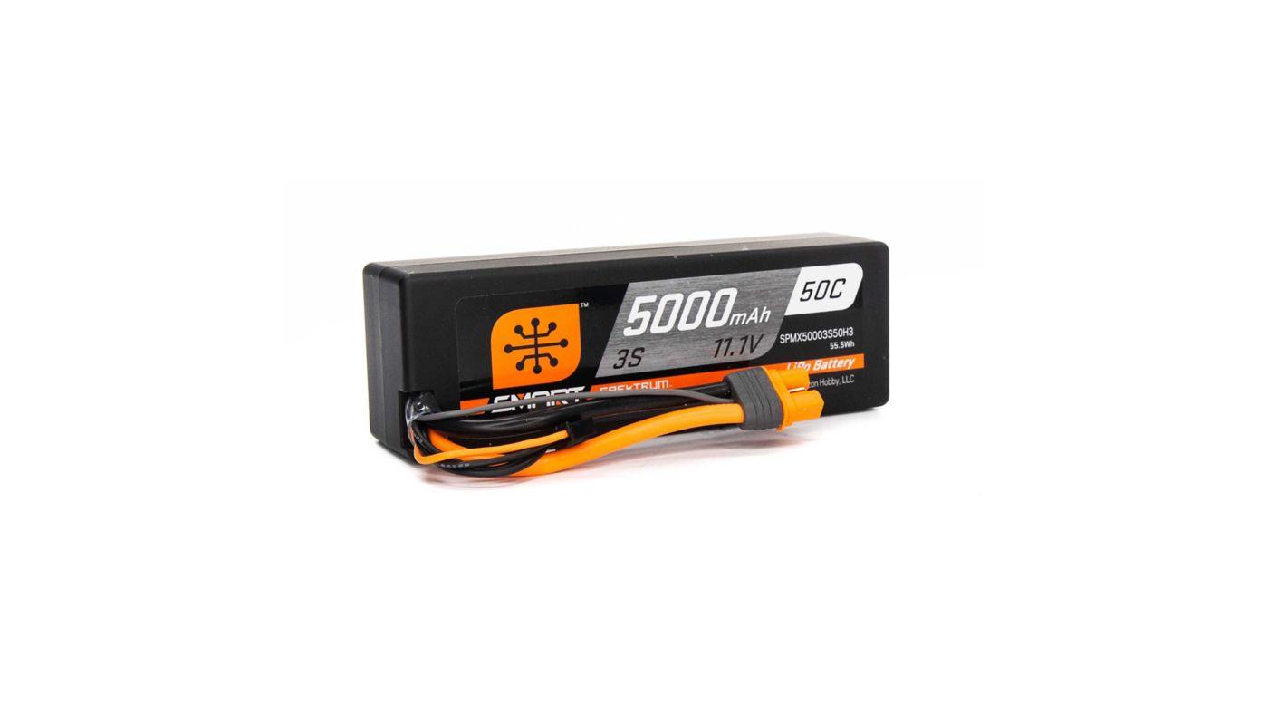 Image for 11.1V 5000mAh 3S 50C Smart LiPo Battery, Hardcase, IC3 from Tower Hobbies EU