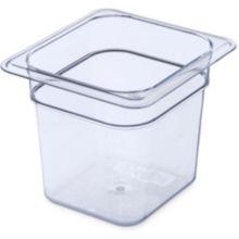 "Carlisle 3068507 StorPlus™ Clear 1/6-Size x 6"" D Food Pan"