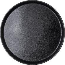 "Carlisle® 1400GR004 Griptite™2 Black 14"" Round Tray"
