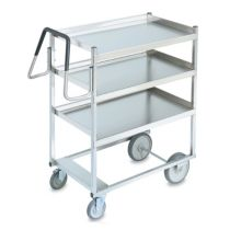 Vollrath® 97201 Ergonomic 3-Shelf Heavy Duty S/S Cart