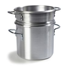Carlisle® 60921 12 Qt. Aluminum Double Boiler with Insert and Lid