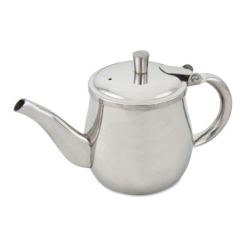 Browne Foodservice 515200 S/S 10 Oz. Gooseneck Teapot with Hinged Lid