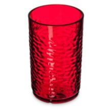 Carlisle 550910 Optic™ Pebbled 9.5 Oz. Ruby Tumbler - 24 / CS