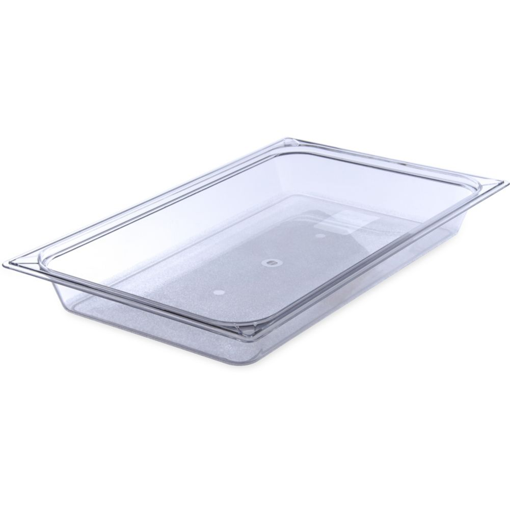 "Carlisle® 10200B07 StorPlus Clear Full Size x 2.5"" D Food Pan"