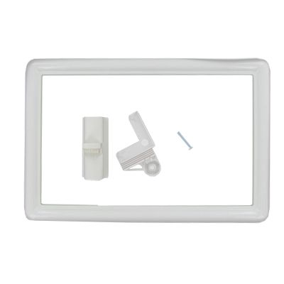 "Clamp-Swing 13724-12 White 7"" x 11"" Flexible Side-View Frame"