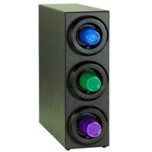 Diversified Metal Black Triple Adj.Cup Dispenser Cabinet