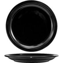 "International Tableware CAN-8-B Cancun Black 9"" Plate - 24 / CS"