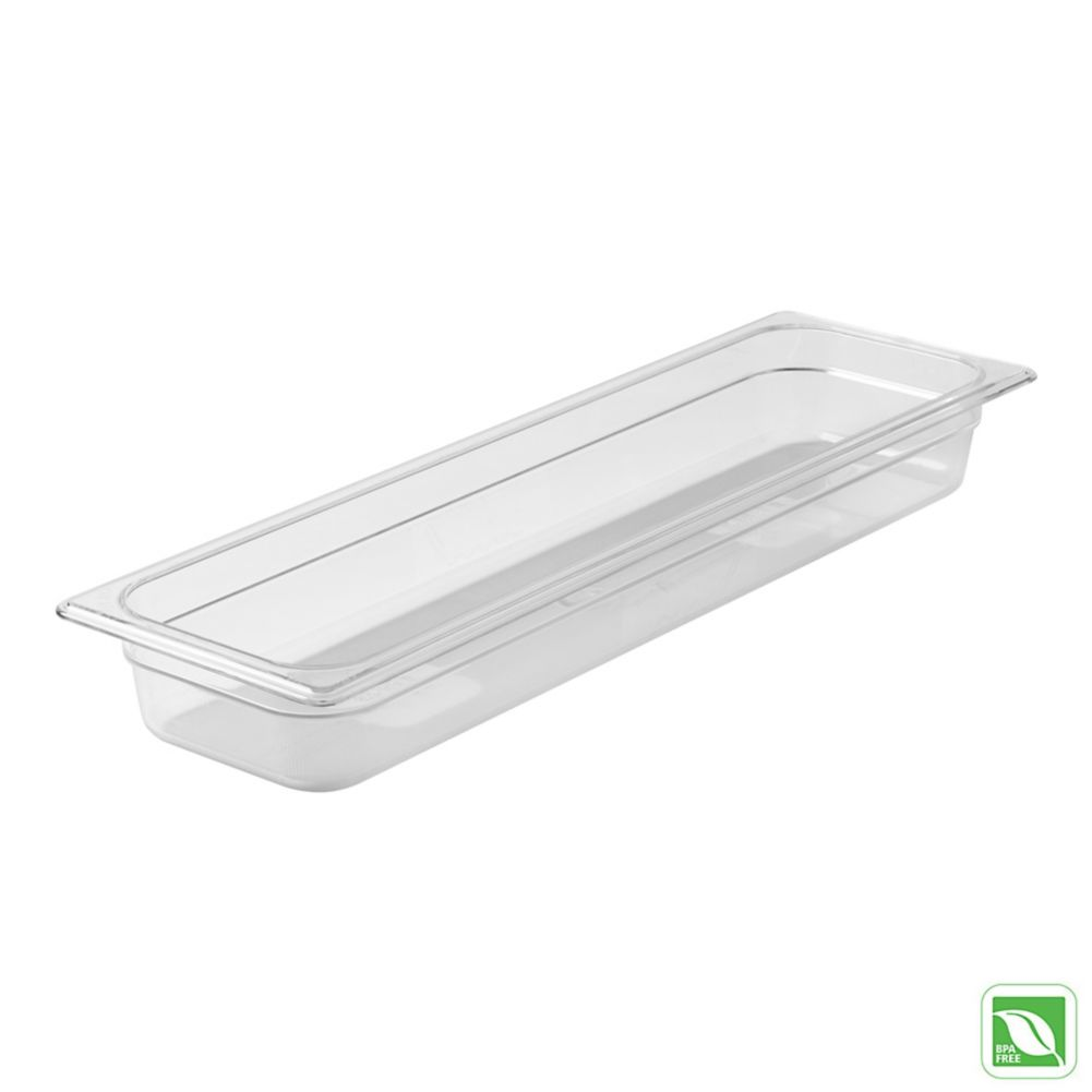 "Rubbermaid FG139P00CLR Clear Half Long Size x 2.5""D Cold Food Pan"