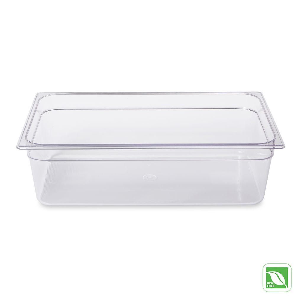 "Rubbermaid® FG132P00CLR Clear Full Size x 6"" D Cold Food Pan"