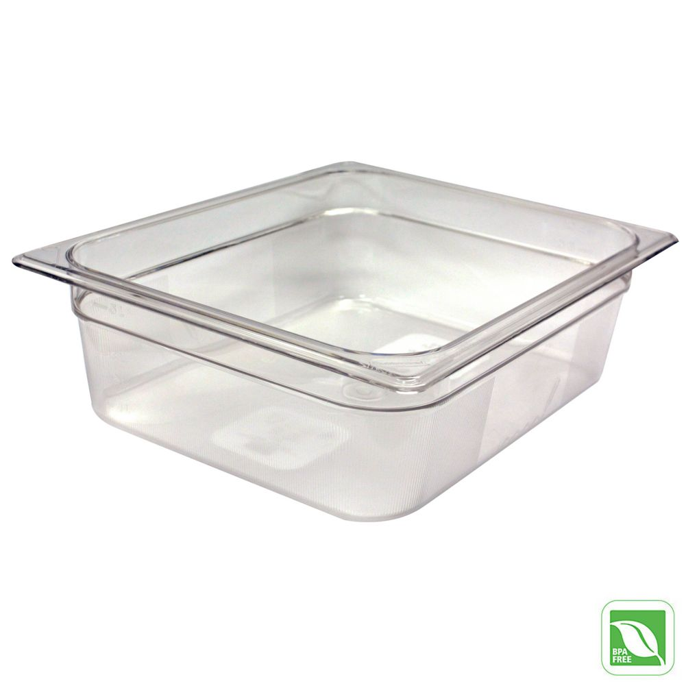 "Rubbermaid® FG124P00CLR Clear Half Size x 4"" D Cold Food Pan"