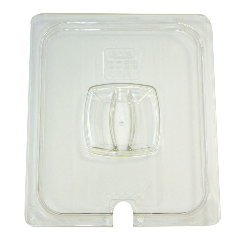 Rubbermaid FG128P86CLR Clear Half Size Cold Food Pan Cover with Notch