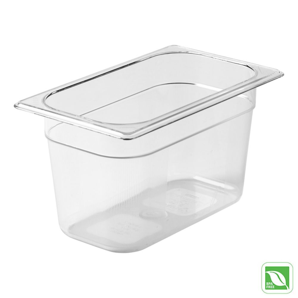 "Rubbermaid® FG112P00CLR Clear Fourth Size x 6""D Cold Food Pan"