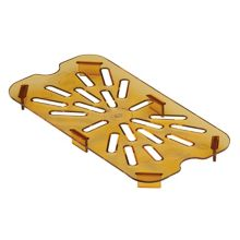 Cambro® 40HPD150 Amber High Heat Drain Shelf for 1/4 Size Food Pan