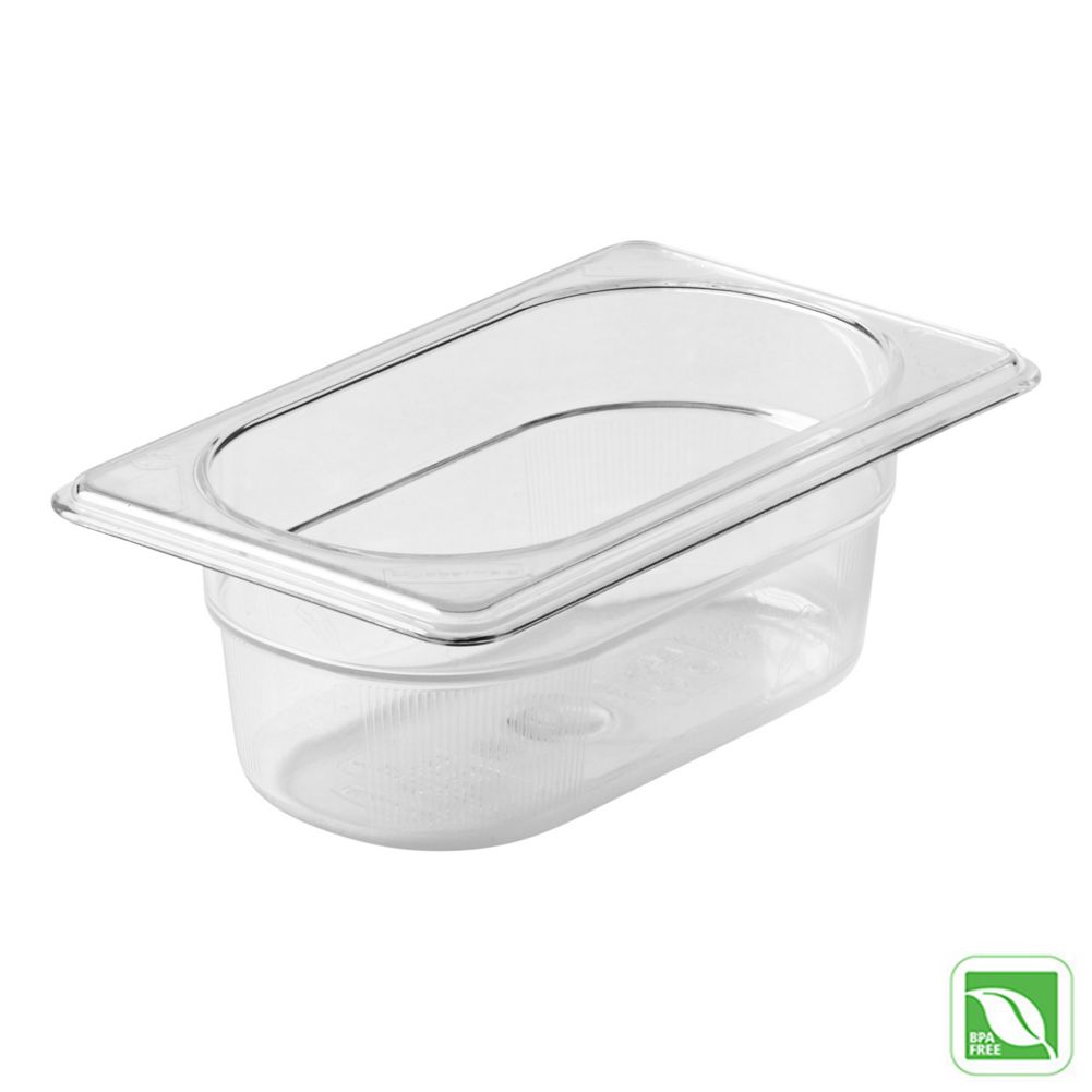 "Rubbermaid® FG100P00CLR Clear 1/9 Size x 2.5"" D Cold Food Pan"