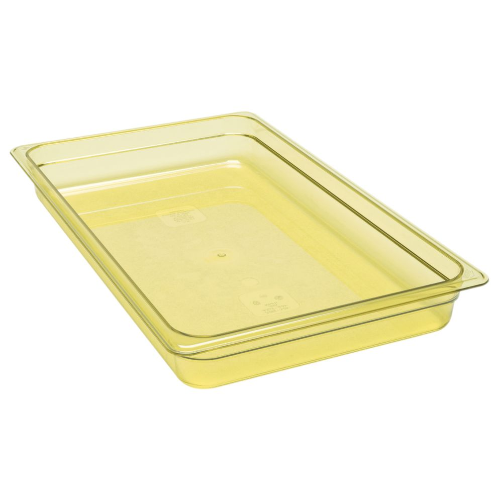 "Cambro® 12HP150 Amber High Heat Full Size x 2-1/2"" D Food Pan"