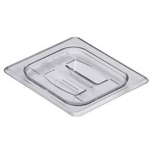 Cambro 60CWCH135 Camwear Clear 1/6 Size Food Pan Cover with Handle