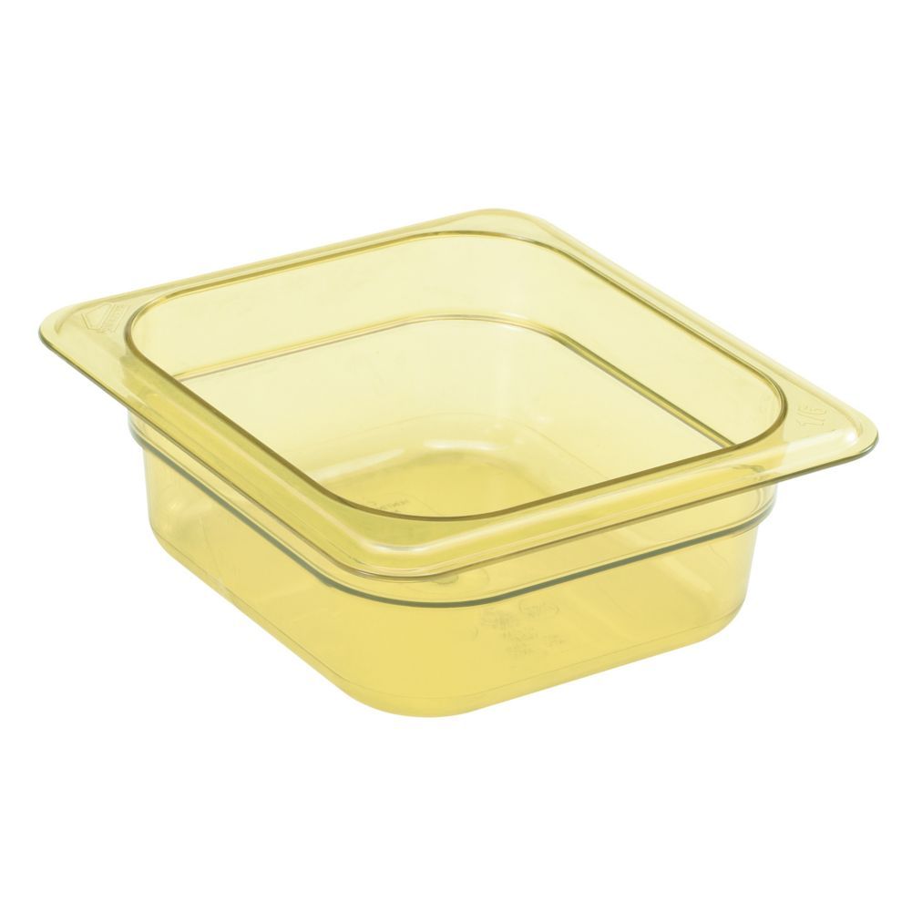 "Cambro® 62HP150 Amber High Heat 1/6 Size x 2.5""D Food Pan"