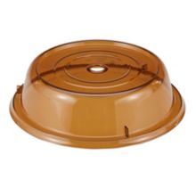 "Cambro 1005CW153 Camwear® Camcover® Amber 10-9/16"" Plate Cover"