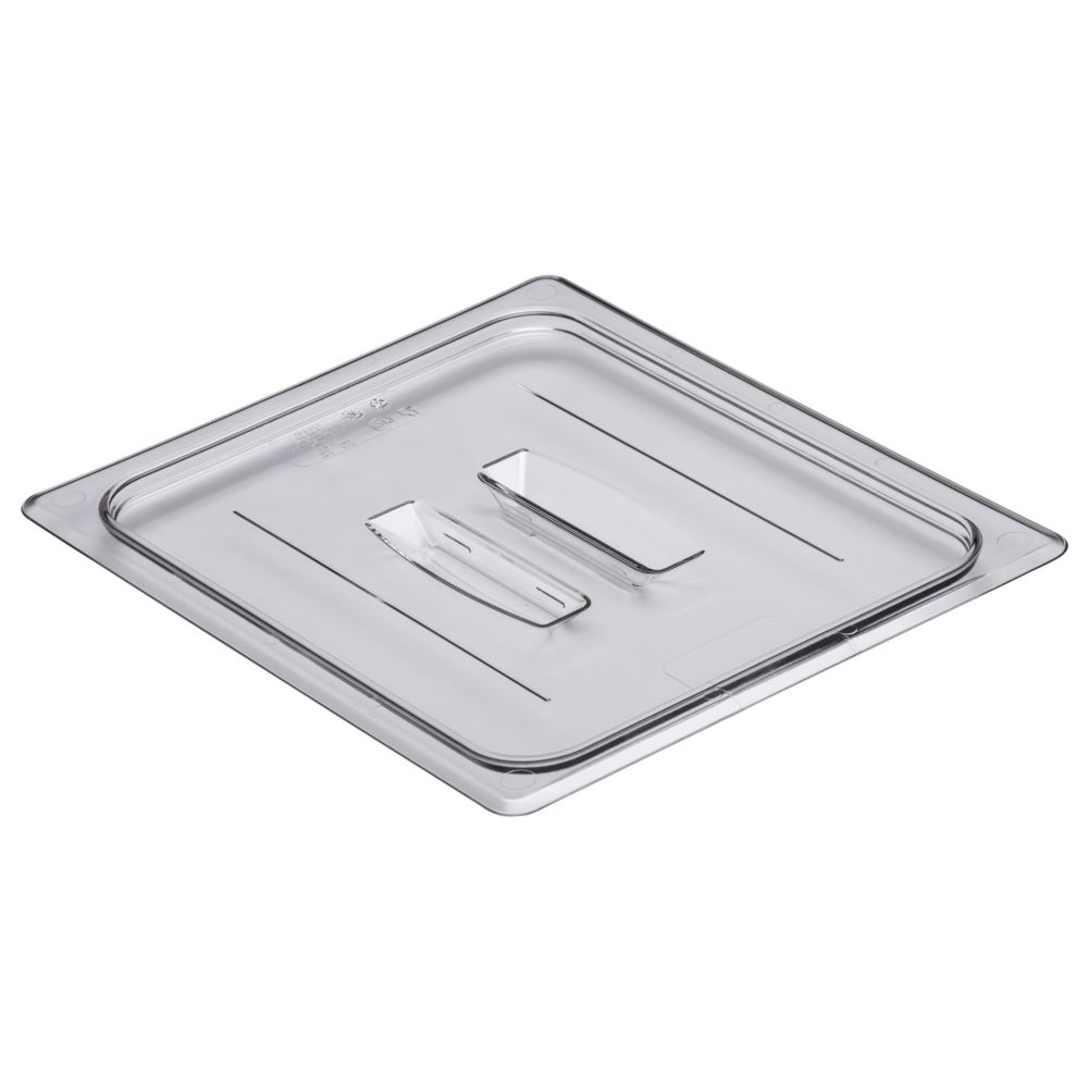 Cambro 20CWCH135 Camwear Clear Half Size Food Pan Cover with Handle