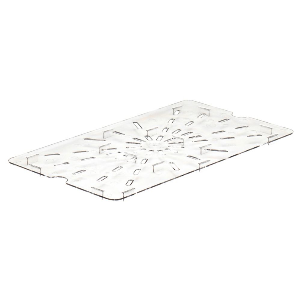 Cambro 10CWD135 Camwear® Clear Drain Shelf for Full Size Food Pans