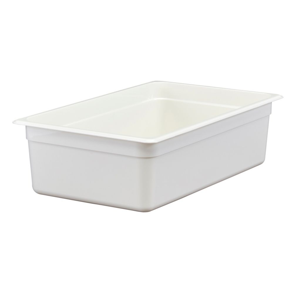 "Cambro® 16CW148 Camwear® White Full Size x 6"" D Food Pan"
