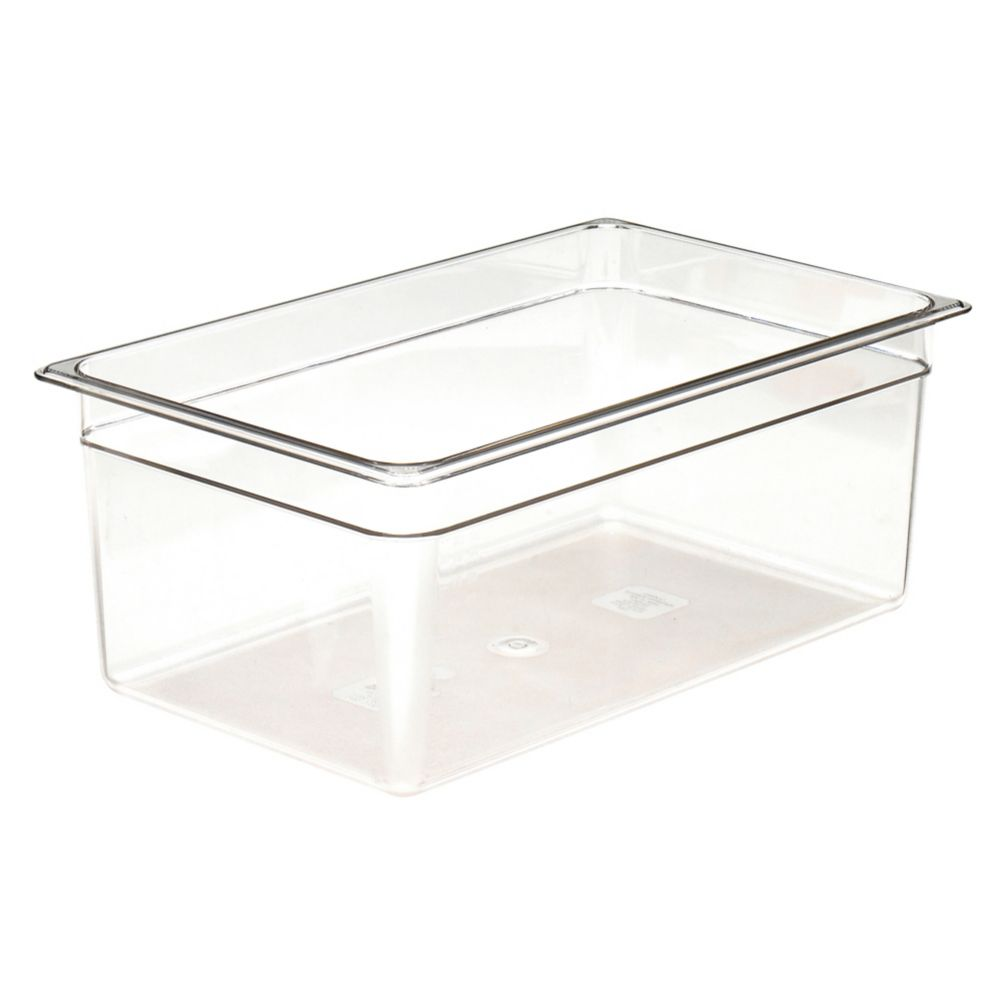 "Cambro® 18CW135 Camwear® Clear Full Size x 8"" D Food Pan"