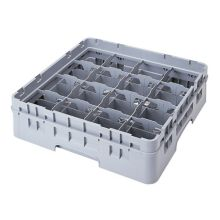 Cambro 16C414151 Camrack Soft Gray 16 Compartment Full Size Cup Rack